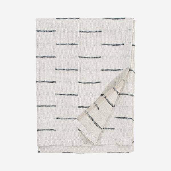 LAPUAN KANKURIT PAUSSI multi-use towel 95×180cm linen-dark grey