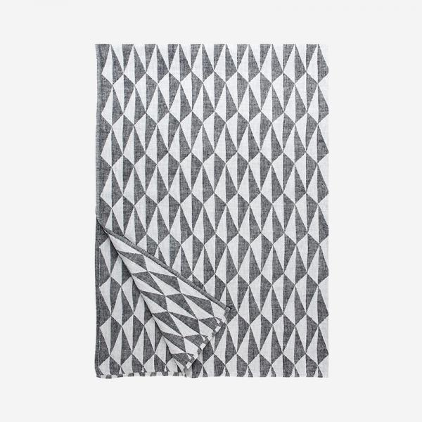 LAPUAN KANKURIT TRIANO blanket 140×200cm white-black