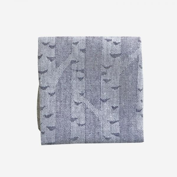 LAPUAN KANKURIT KOIVU linen handkerchief 36×36cm black-white
