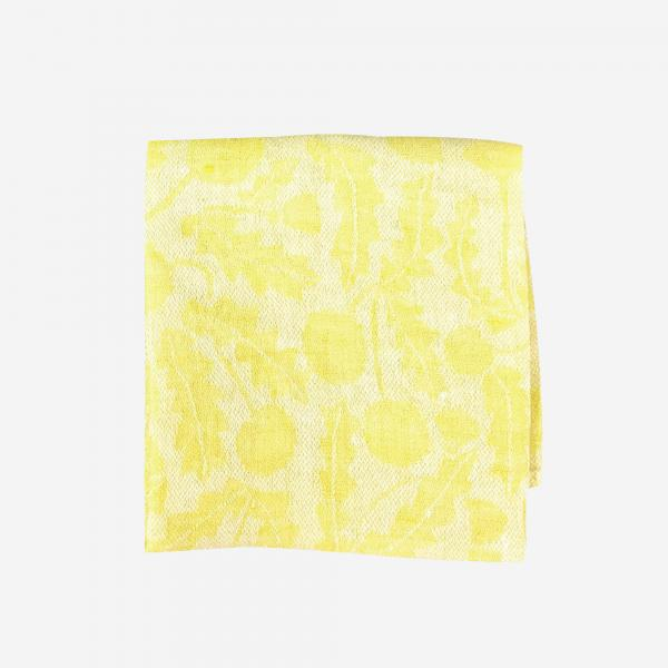 LAPUAN KANKURIT VOIKUKKA linen handkerchief 36×36cm yellow