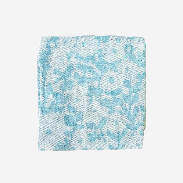 LAPUAN KANKURIT KUKKAKETO linen handkerchief 36×36cm turquoise
