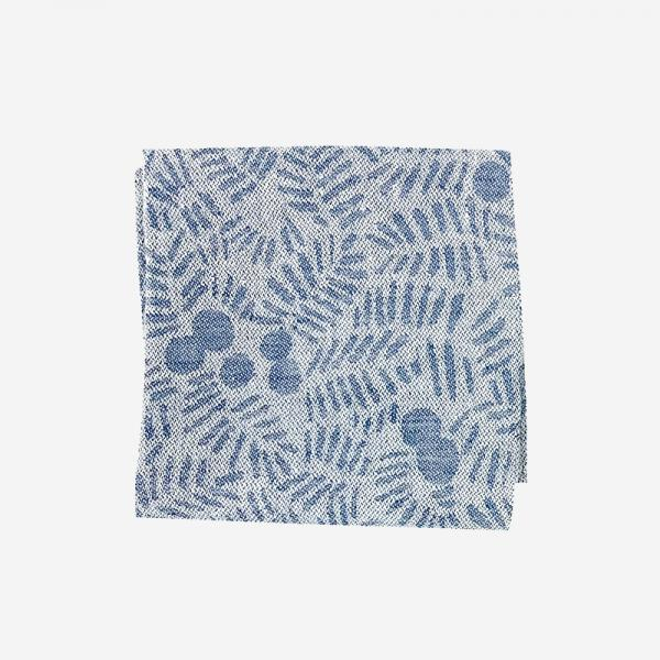 LAPUAN KANKURIT KATAJANMARJA linen handkerchief 36×36cm blue