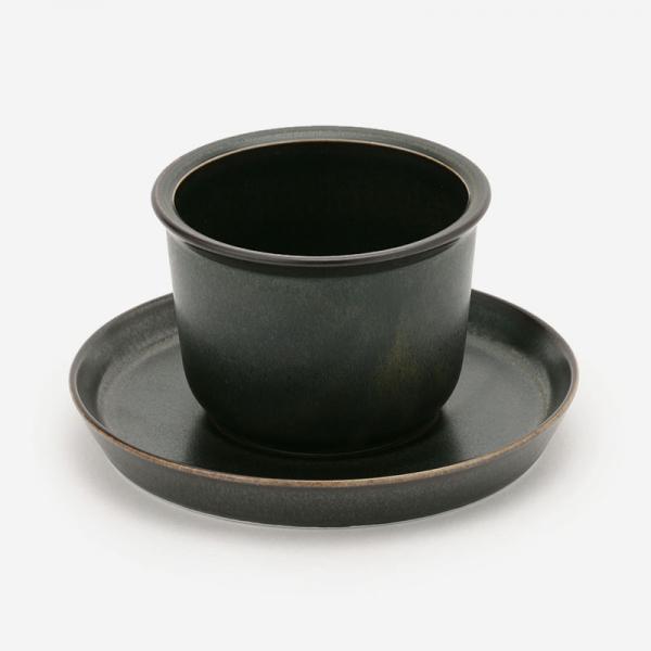 LEAVES TO TEA カップ&ソーサー 160ml  ブラック