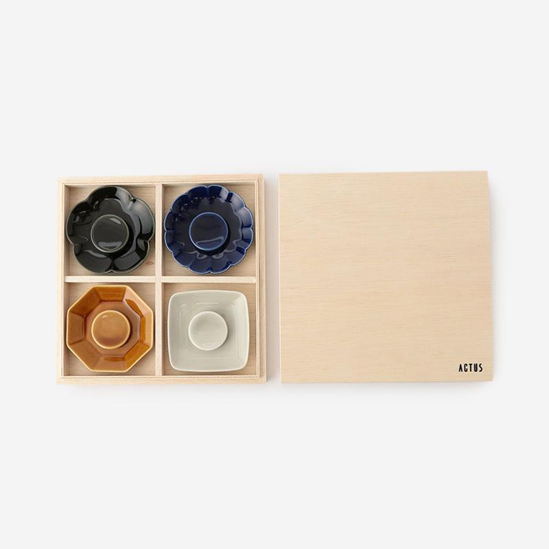 美濃焼 豆皿ギフトセット 4カラー
