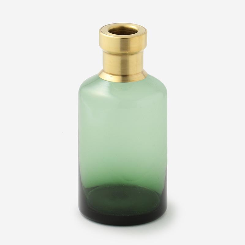 ブラス+カラーガラスベース  グリーン