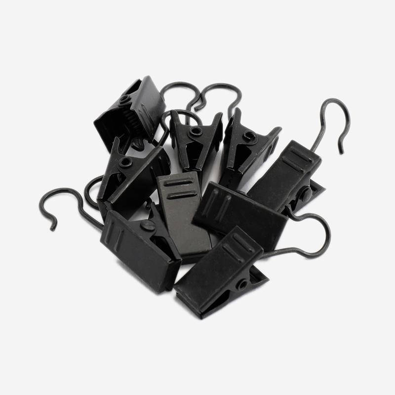 カーテンCLIP セジール 10個セット ブラック