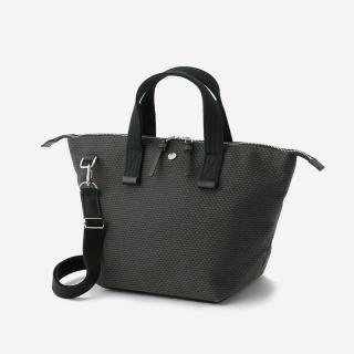CaBas No.33 Bowler bag small+Shoulder strap Gray/Black