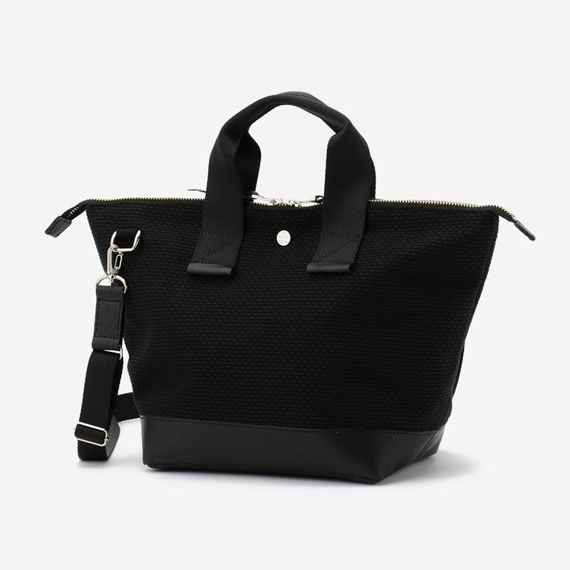 CaBas No.33-plus Bowler bag small+shoulder strap Black/Black
