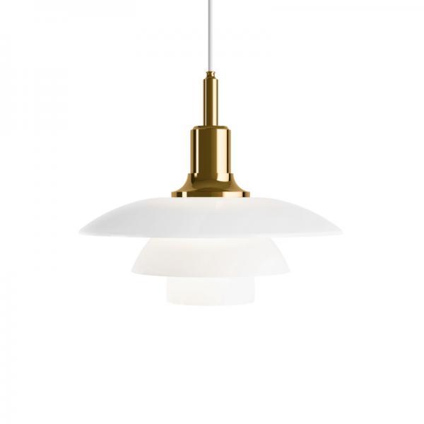 Louis Poulsen PH3 1/2-3 GLASS PENDANT LAMP BRASS