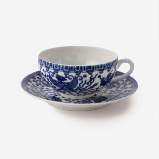 丸直製陶所 染付中碗 鳳凰