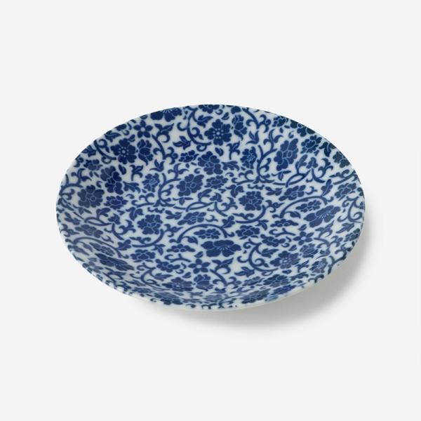 丸直製陶所 染付皿 唐草