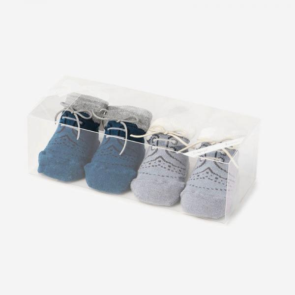 Leapepeソックス2Pセット Blue+Gray