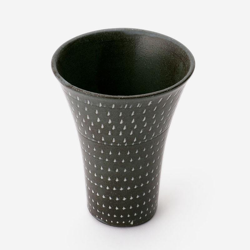 美濃焼 トビカンナタンブラー(木箱入り) ブラック