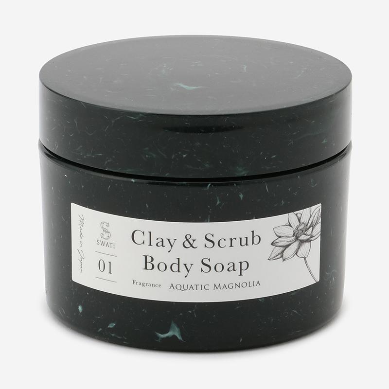 SWATi MARBLE Label クレイ&スクラブボディソープ Aquatic Magnolia