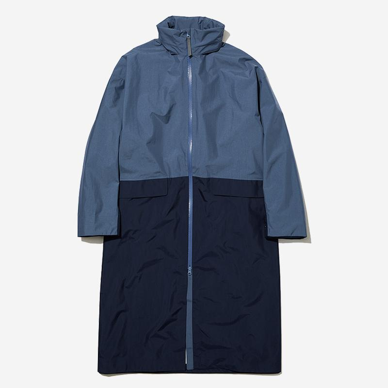 LN RAIN COAT Mサイズ オレゴングレープ×ヘリーブルー