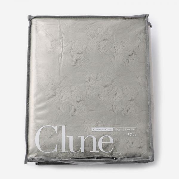 CLUNE-B 布団カバー(シングル) 150cm×210cm ダークベージュ