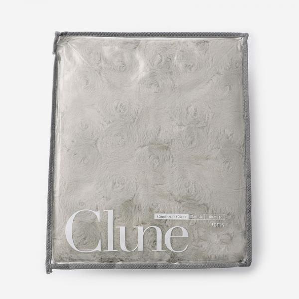 CLUNE-B 布団カバー(ダブル) 190cm×210cm ダークベージュ