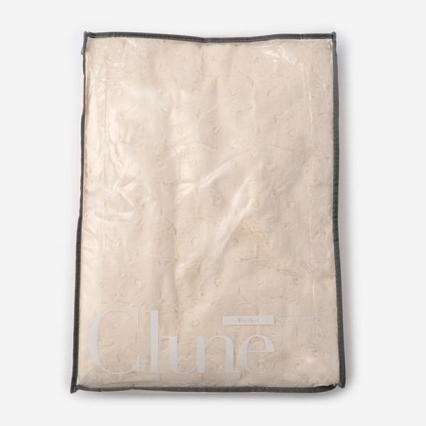 CLUNE-B 毛布 140cm×200cm アイボリー