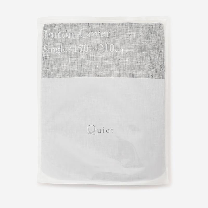 Quiet HALF&HALF 布団カバー(シングル) 150×210 CHAMBRAY BLACK