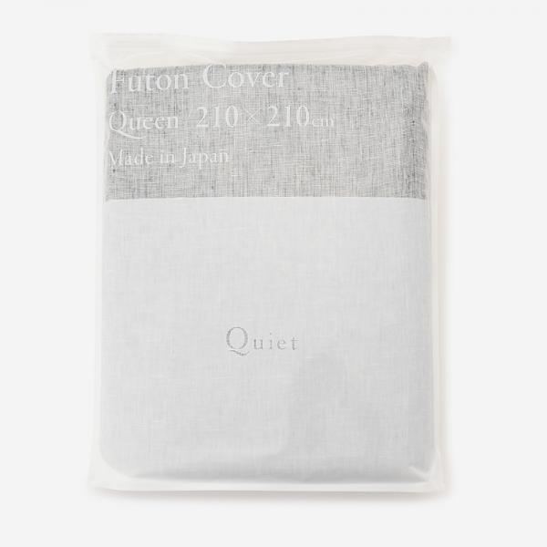 Quiet HALF&HALF 布団カバー(クイーン) 210×210 CHAMBRAY BLACK