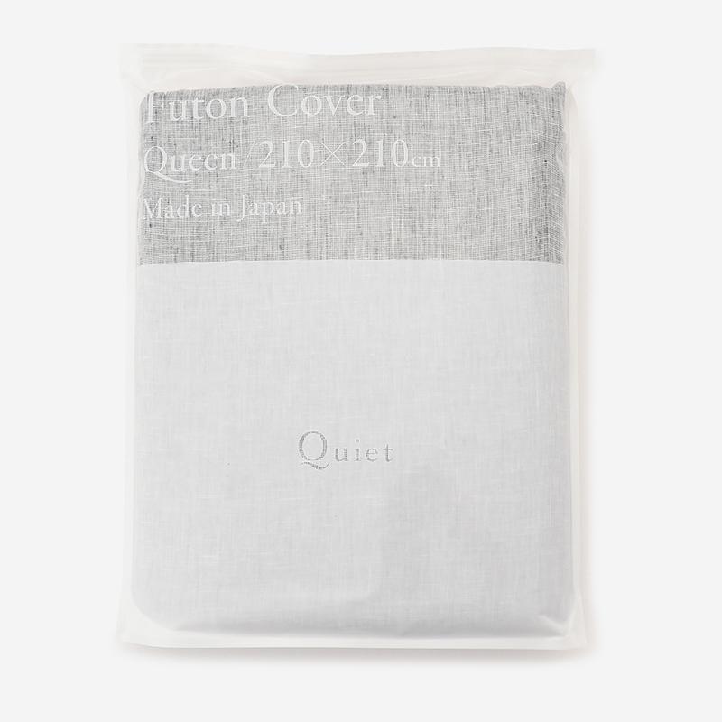 Quiet HALF&HALF 布団カバー(クイーン) 210×210 CHAMBRAY BLACK