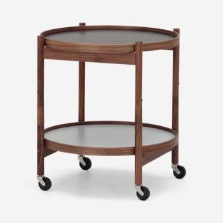 TRAY テーブル ウォールナット ブラック/グレー