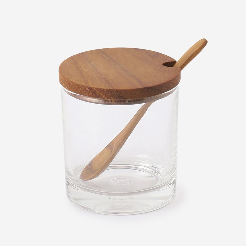 RISE&SHINE WOOD CANISTER SPOON(L)