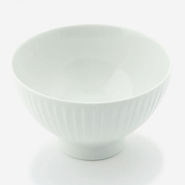 波佐見焼 お碗 竹林彫 ホワイト