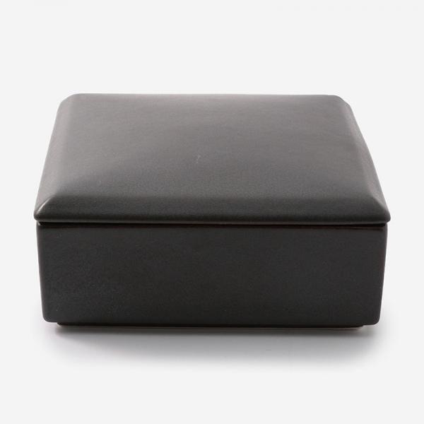 迎春和陶器 ノヴァ スクエアボックス (重箱) ブラック