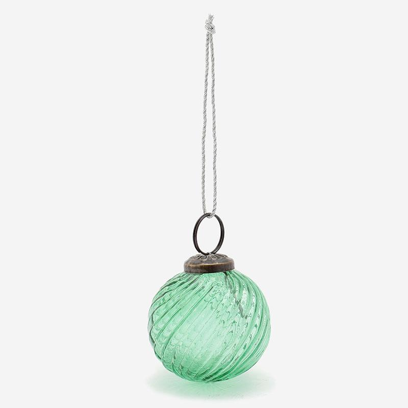 ガラスオーナメント ボール Sサイズ グリーン