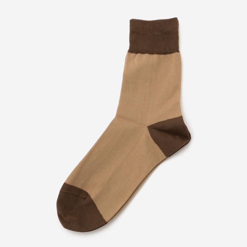 eauk BY COLOR SOCKS BROWN