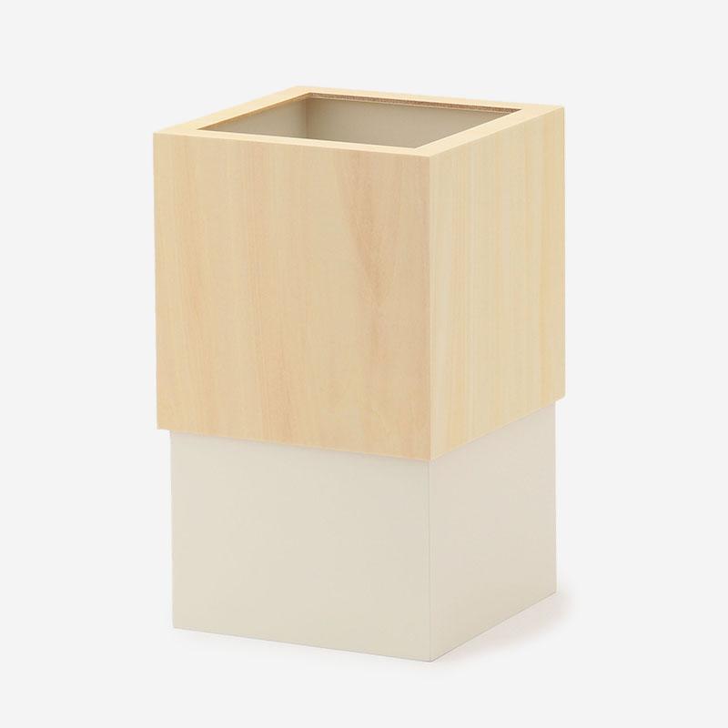 ヤマト工芸 W CUBE DUST BOX ナチュラル