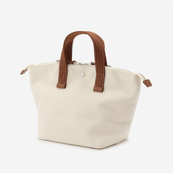 CaBas No.33 Bowler bag small White/Amber