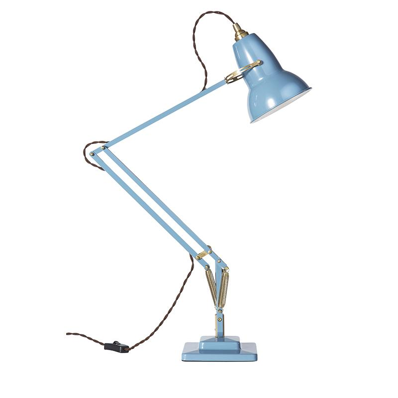 ANGLEPOISE 1227 BRASS DESK LAMP DUSTY BLUE