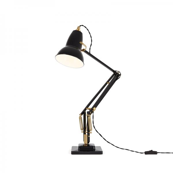 ANGLEPOISE ORIGINAL 1227 BRASS DESK LAMP JET BLACK