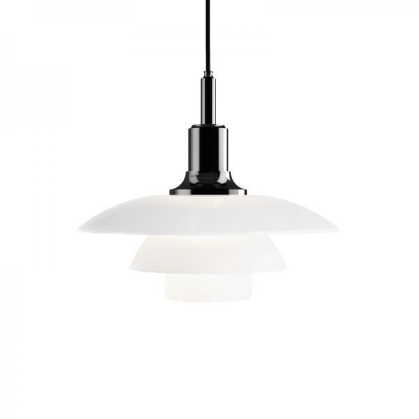 Louis Poulsen PH3 1/2-3 GLASS PENDANT LAMP BLACK