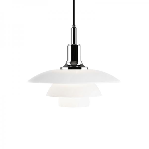 Louis Poulsen PH3 1/2-3 GLASS PENDANT LAMP SILVER
