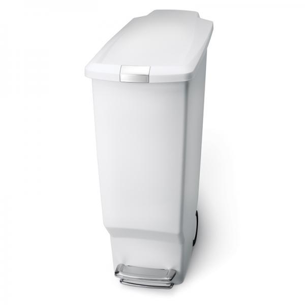 simplehuman スリムステップカン 40L ホワイト