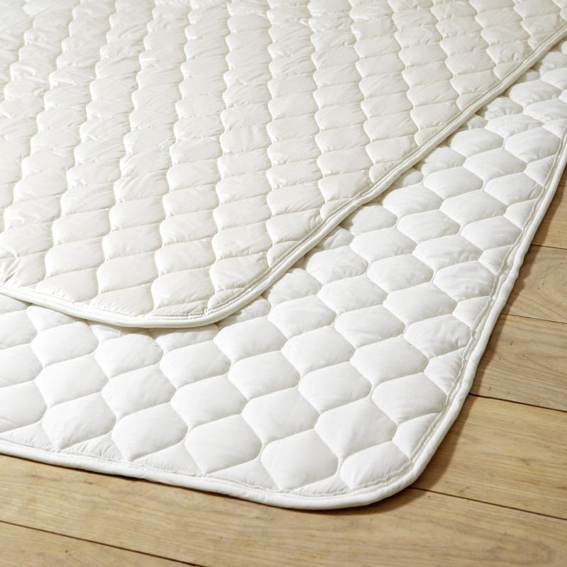 ALL WHITE ベッドパッド ウール100%(セミダブル 120×200)