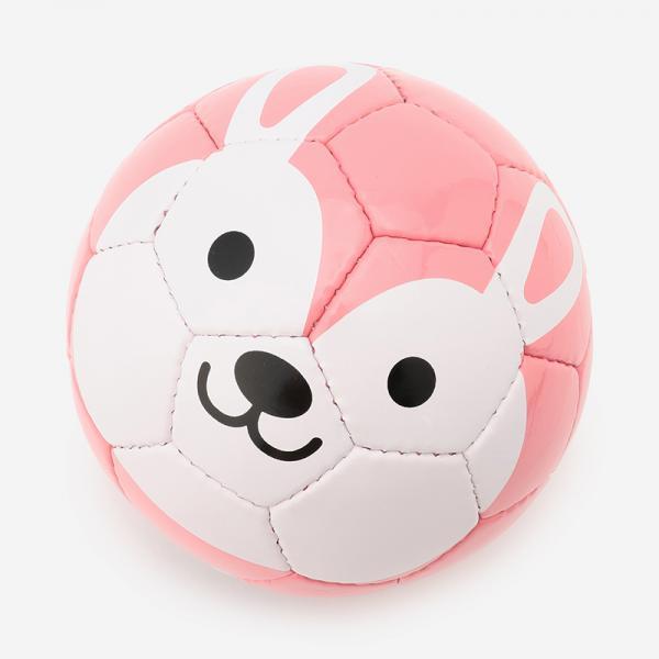 Football zoo ウサギ ミニボール1号球(直径約15cm)