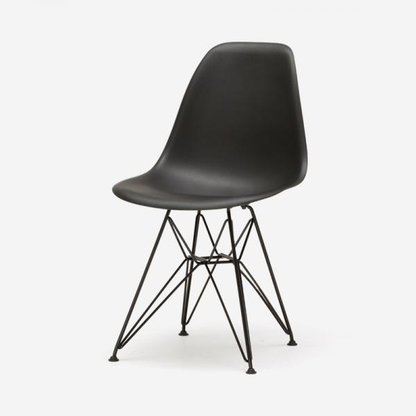 HermanMiiior EAMES SHELL チェア BLACK/BLACK WIRE BASE