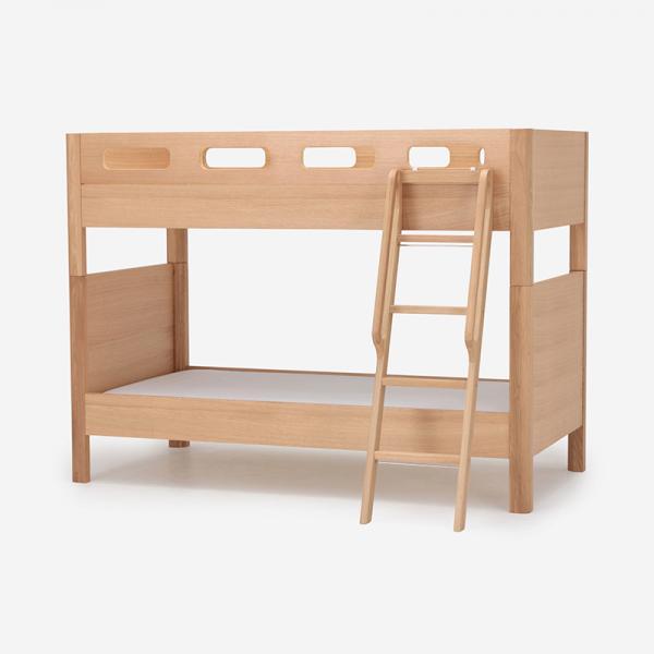 【キャンペーン対象商品】FUZZLE 2段ベッド 突板スノコタイプ