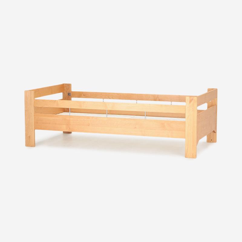 【2月上旬頃お届け】REVE2 シングルベッド LOW/LOW ガード付き