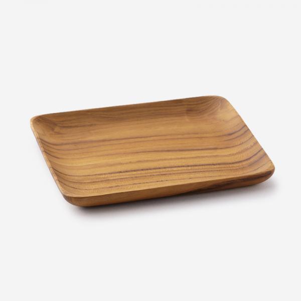 Teak Wood トレー 15.4×14.8cm