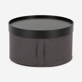 SOFTLINE DRUMS POUF R60×H30 グレー/ブラックトレイ