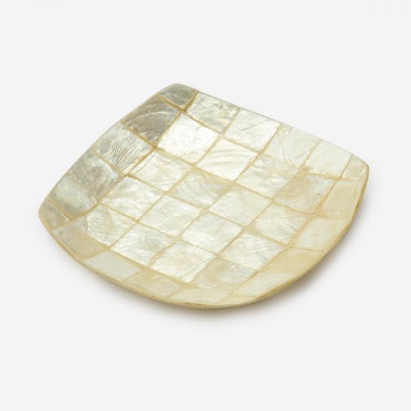 RAFFINE 正方形トレー ホワイト タイル