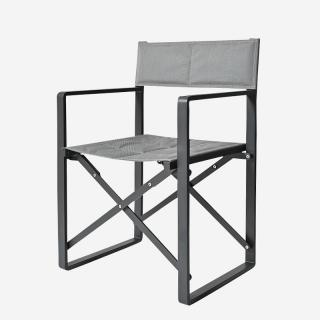 LUNA DIRECTOR CHAIR GRAY/SILVER