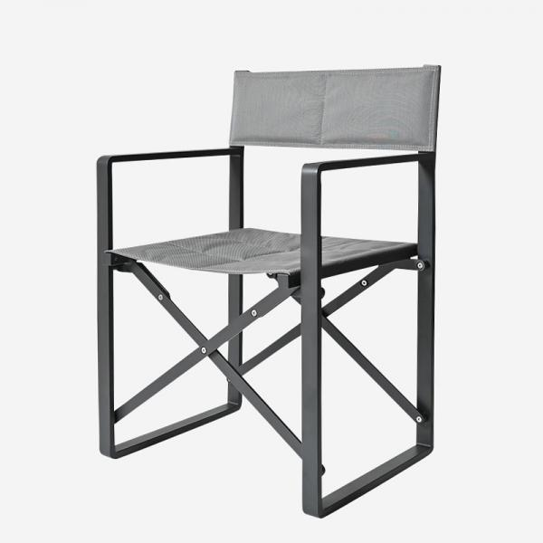 LUNA DIRECTOR CHAIR GRAY/BLACK-SILVER