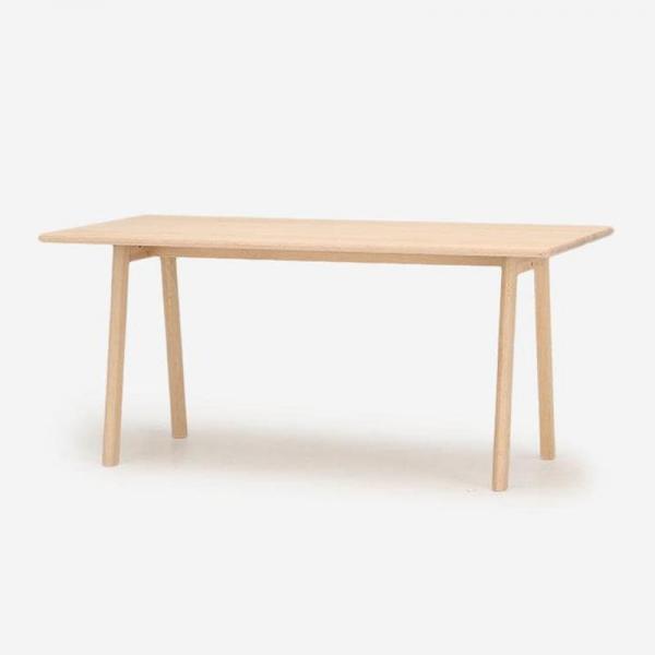 【受注生産品 納期約45日】SOUP ダイニングテーブルオーク ミルク150x80( Aレッグ)