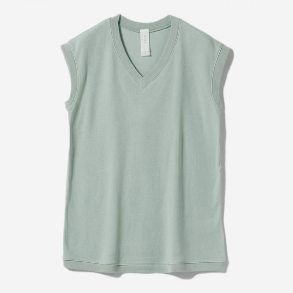 AIR COTTON FRENCH SLEEVE TOP LBL/womens
